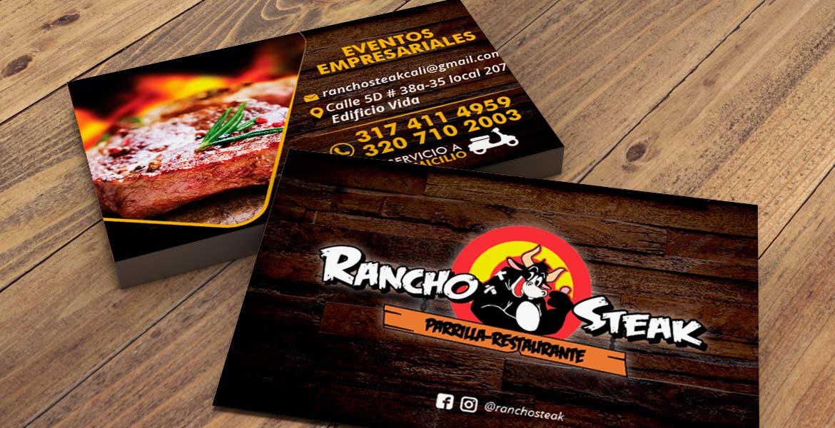 Tarjetas Rancho Steak - JuanPcreativo